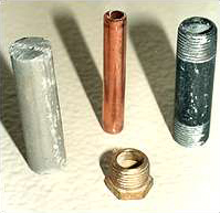 metal parts from chiller treated with OptiShield