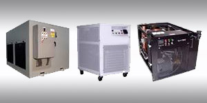 three industrial chillers for industrial applications