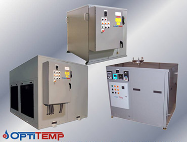Three custom liiquid chillers from Opti Temp